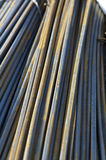 Rebars. A big pile of rebars for building construction Stock Photos