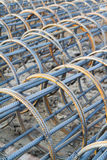 Rebars component on site. Stock Photo