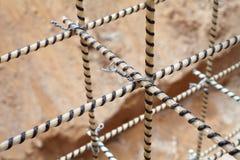 Rebars compostos Reforçando a gaiola Reforço da fibra de vidro imagens de stock royalty free