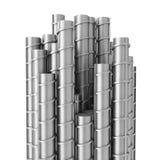 Rebars d'acier de renfort en métal rendu 3d Illustration de Vecteur