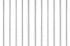 Rebars d'acier de renfort en métal rendu 3d Illustration Libre de Droits