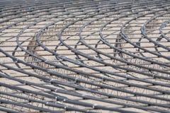 Rebars de aço para o concreto reforçado com fio na construção s Fotos de Stock Royalty Free