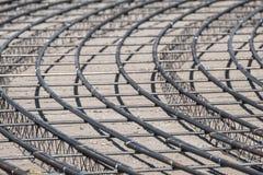 Rebars de aço para o concreto reforçado com fio na construção s Imagens de Stock