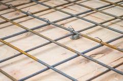 Rebars stalowy drut w budowie zdjęcie stock