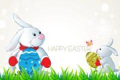 Rebbit love egg Stock Photography