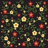 Rebe und gelbe Blume Stockbilder