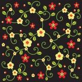 Rebe und rote Blume Stockfotografie