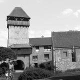 Rebecca 36 Église saxonne enrichie médiévale dans Calnic, la Transylvanie Images stock