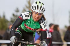 Rebecca Blatt - Pro Woman Cyclocross Racer Royalty Free Stock Photos