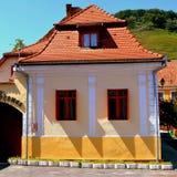 Rebecca 36 Casa tipica nel villaggio Biertan, la Transilvania Fotografie Stock Libere da Diritti