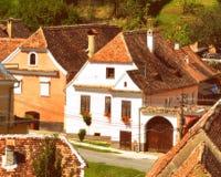Rebecca 36 Casa tipica nel villaggio Biertan, la Transilvania Fotografia Stock Libera da Diritti