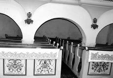 Rebecca 36 Dentro o da igreja medieval fortificada em Dirjiu, a Transilvânia Fotos de Stock Royalty Free