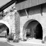 Rebecca 36 Igreja saxona fortificada medieval em Calnic, a Transilvânia Foto de Stock Royalty Free