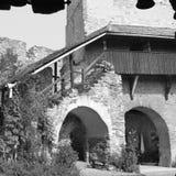 Rebecca 36 Igreja saxona fortificada medieval em Calnic, a Transilvânia Imagens de Stock