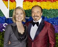 Rebecca Lukor and Danny Burstein at 2019 Tony Awards stock image