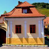 Rebecca 36 Maison typique dans le village Biertan, la Transylvanie Photos libres de droits