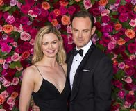 Rebecca Night and Harry Hadden-Paton at 2018 Tony Awards. English actress Rebecca Night and husband Harry Hadden-Paton arrive on the red carpet for the 72nd Stock Images