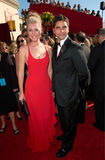 Rebecca Romijn-Stamos,John Stamos. Actor JOHN STAMOS & model wife REBECCA ROMIJN-STAMOS at the 52nd Annual Emmy Awards in Los Angeles royalty free stock images
