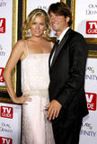 Rebecca Romijn und Jerry O'Connell stockfotografie