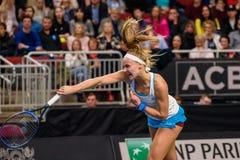 Rebecca Sramkova podczas świat grupy II Round Pierwszy gry między drużynowym Latvia Sistani i drużyną, obrazy stock