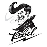 rebel ilustração stock