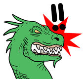 Rebel dragon Stock Image