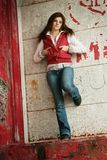 Rebel girl. Young girl with a rebel attitude look to the camera Stock Images