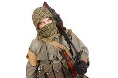 Rebel with machine gun Royalty Free Stock Images