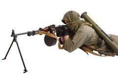 Rebel with machine gun Stock Photos