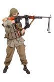 Rebel with machine gun Stock Photography