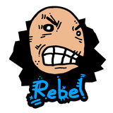 Rebel puppet Royalty Free Stock Images