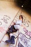 Rebel woman portrait Stock Photo