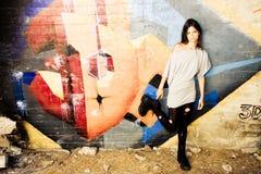 Rebel young woman stock image