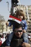 Rebelde de los jóvenes - revolución egipcia Imagen de archivo