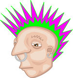 Rebelde del Mohawk del punk rock Foto de archivo libre de regalías