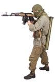 Rebell med AK 47 Fotografering för Bildbyråer