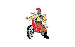 Rebelle sur une moto Image libre de droits