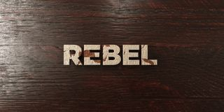Rebelle - titre en bois sale sur l'érable - image courante gratuite de redevance rendue par 3D Image libre de droits