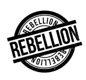 Rebellion rubber stamp. Grunge design with dust scratches. Effects can be easily removed for a clean, crisp look. Color is easily changed Stock Image