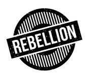 Rebellion rubber stamp. Grunge design with dust scratches. Effects can be easily removed for a clean, crisp look. Color is easily changed Stock Photo