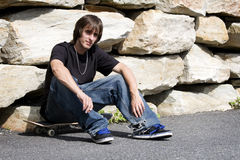 Rebellious young skateboarder Stock Photo