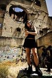 rebelliskt barn för flicka Royaltyfria Foton