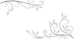 Reben und Blumenmuster Stockfotografie