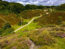 Rebild-Hügel, netter Platz in Dänemark lizenzfreie stockbilder