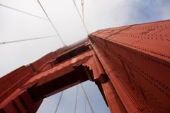 Rebites de golden gate bridge Imagem de Stock