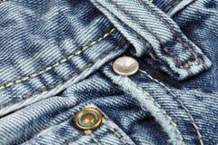 Rebites na calças de ganga Fotografia de Stock Royalty Free