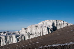 Rebmanngletsjer Kilimanjaro Stock Afbeelding