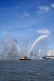 Rebocador no porto de Rotterdam Imagem de Stock