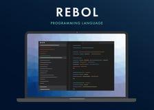 Rebol programming language stock photo