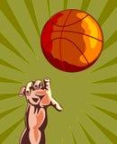 Rebond 2 de basket-ball et de main Photos stock